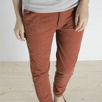 LINAGI 里奈子 ~K00123~1~早春 舒適直筒壓折絨布雙口袋修身中低腰顯瘦長褲