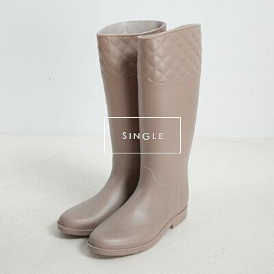 LINAGI里奈子精品【K699-84-87】流行優雅感素面菱格紋設計風百搭休閒雨鞋