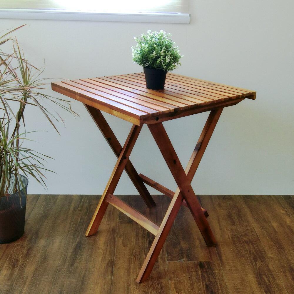 餐桌/野餐桌/實木桌 【DAA028】戶外咖啡休閒鄉村橡木折疊桌 Amos