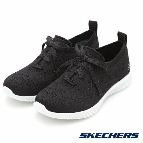 SKECHERSWAVELITE女鞋慢跑輕巧靈活柔軟針織網眼透氣黑【運動世界】23630BKW