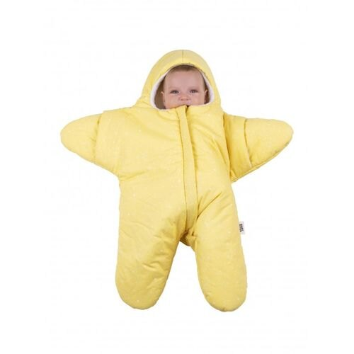 BabyBites 西班牙鯊魚咬一口 嬰兒包巾睡袋(輕量版)小海星-鵝蛋黃★衛立兒生活館★ - 限時優惠好康折扣