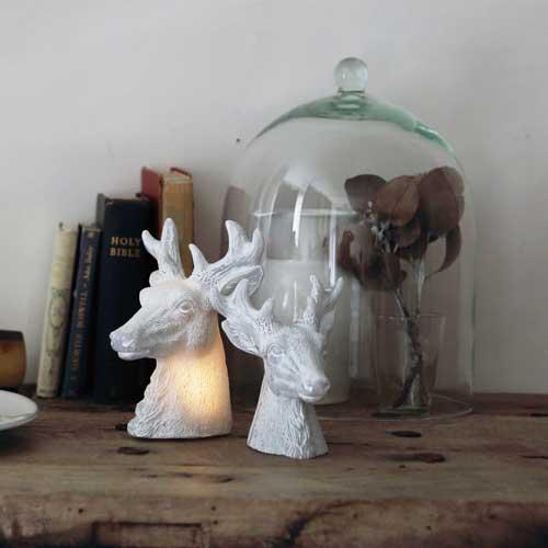 鹿首白色LED桌燈