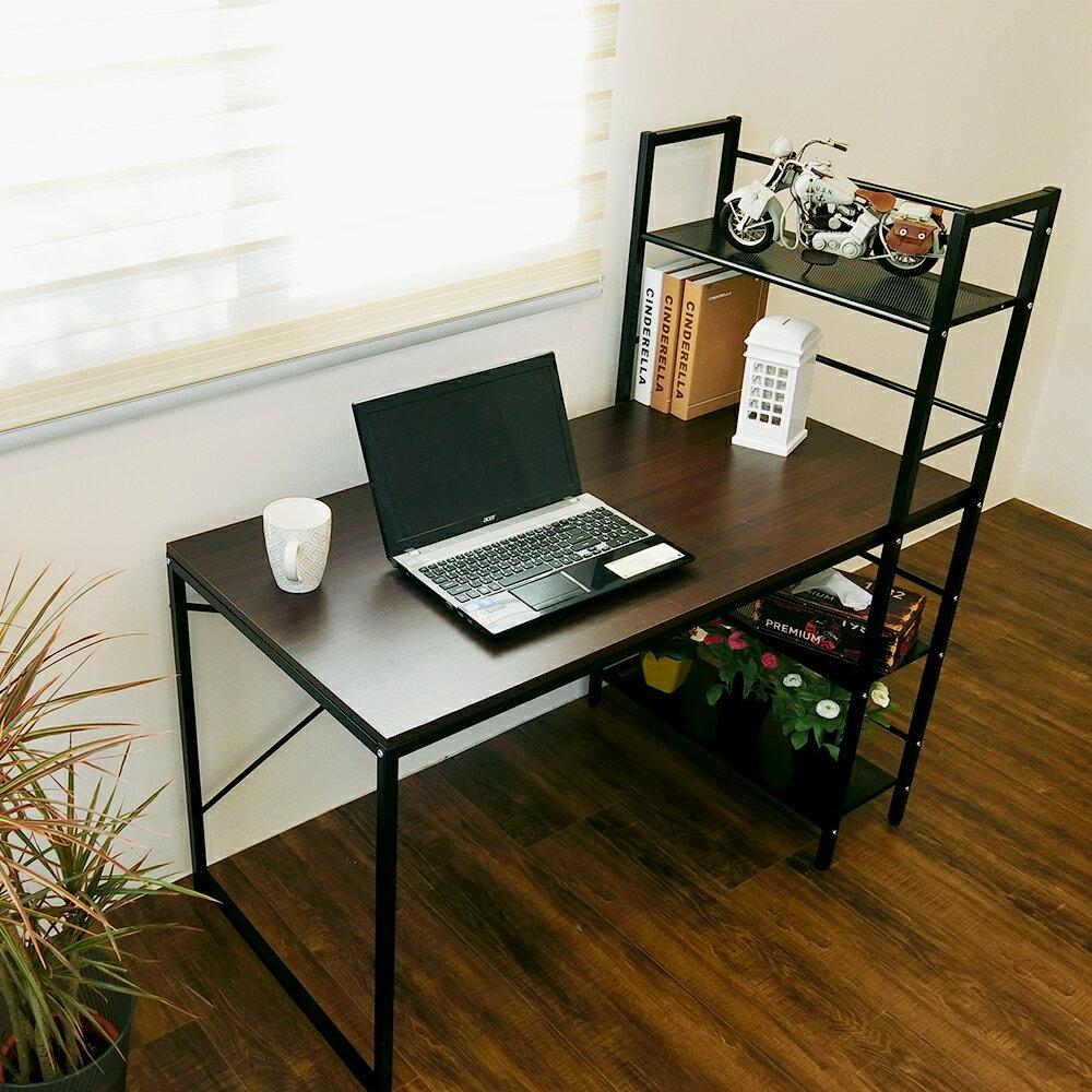 辦公桌 電腦桌 書桌【DCA017】樂活雙向層架式多功能120*60大桌面工作桌 Amos 台灣製造