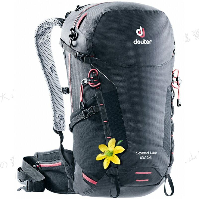 【露营趣】送手电筒 德国 Deuter 3410318 SPEED LITE 22SL 网架背包 登山背包 休闲背包 后背包 旅游背包
