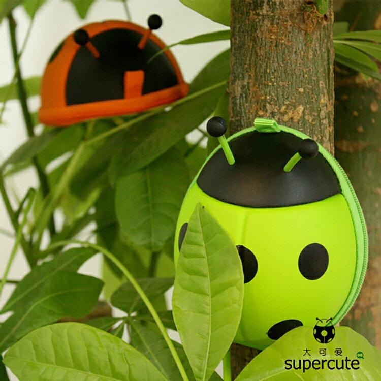 精品款 Supercute 瓢蟲造型鑰匙包 零錢包 錢包 掛包 硬幣包 卡包 耳機包 卡片 小物 奶嘴 收納包 瓢蟲包