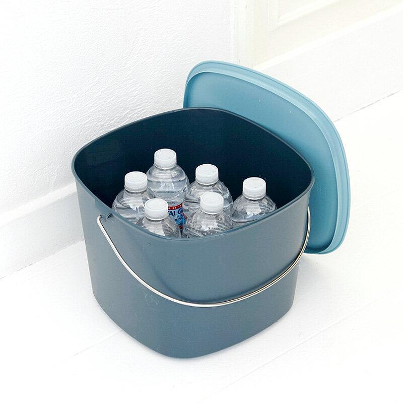 tidy時尚簡約收納桶(藍綠色) 1