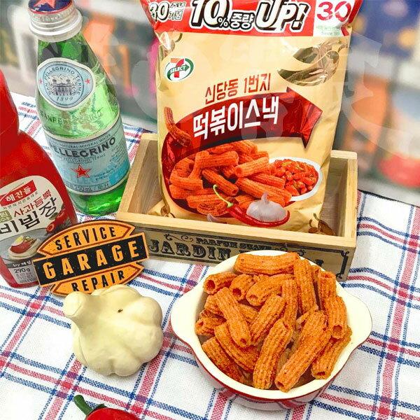 韓國7-11辣炒年糕風味點心條138g包每個脆條上都有年糕醬【特價】§異國精品§