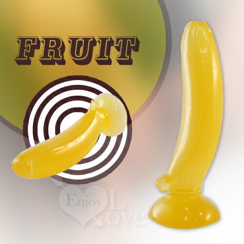 情趣用品 按摩棒 造型按摩棒 美人蕉 - 軟乳膠棒 (可吸盤)