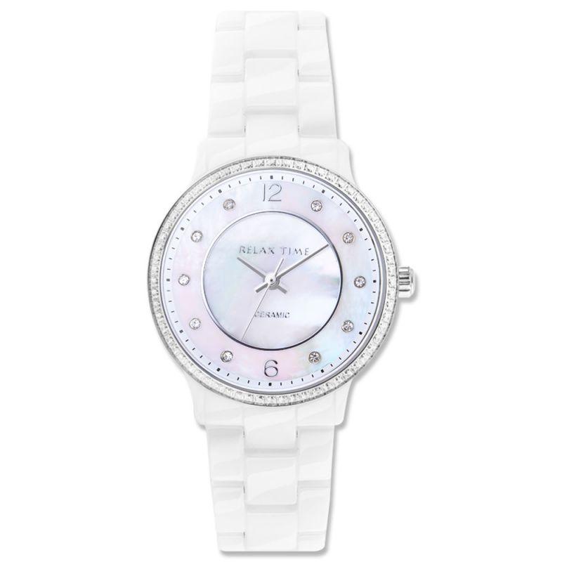 Relax Time  RT-55-12 RT系列迷你纖薄白陶瓷腕錶/白面30.5mm