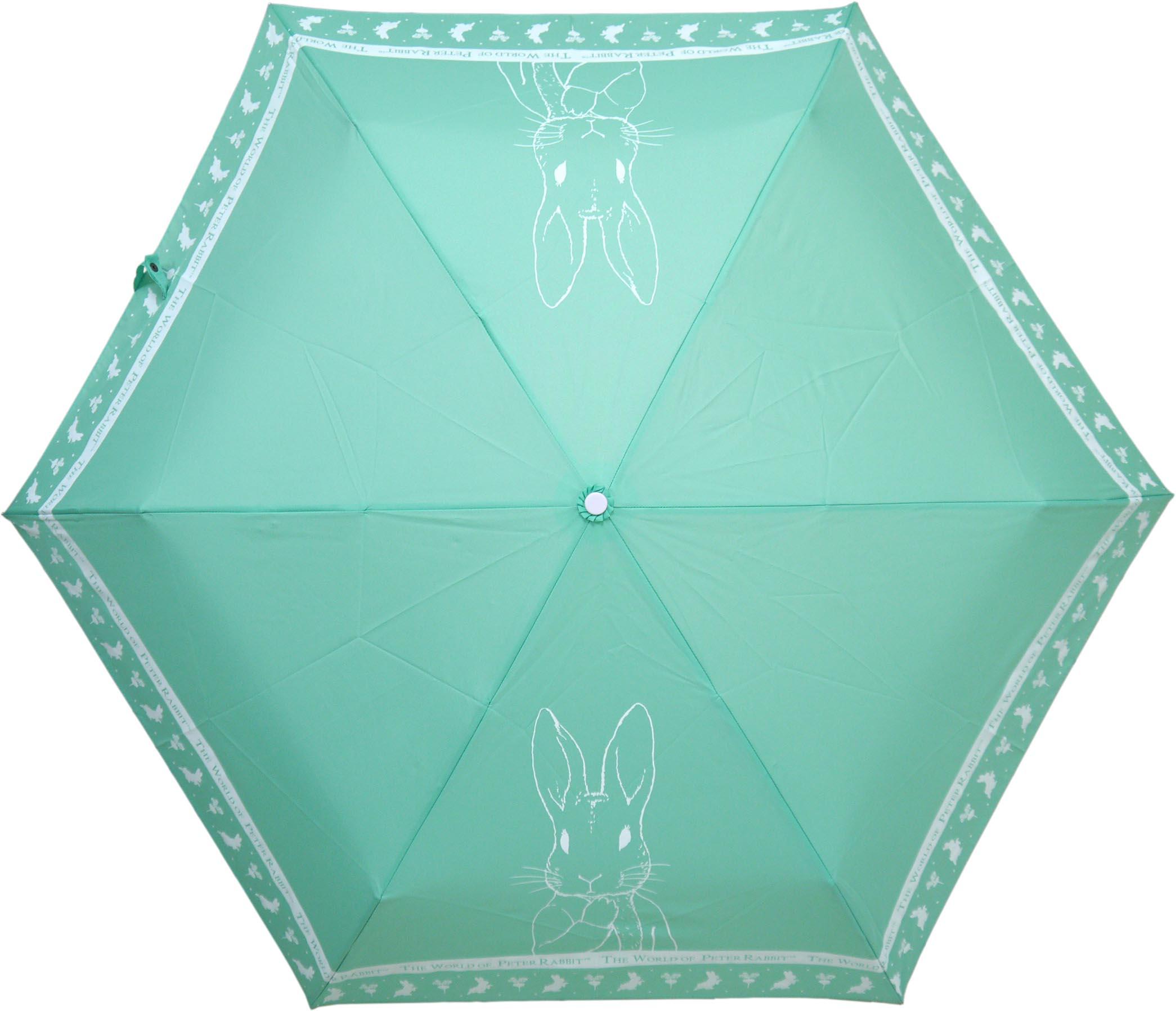 《Annie's Friends》Peter Rabbit 比得兔防曬摺疊傘【湖水綠線條兔】