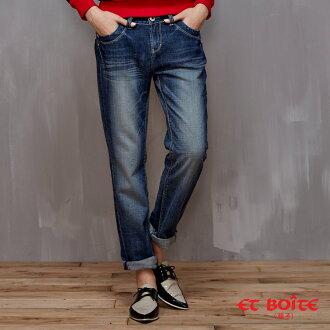 【儲存優惠券再折300★均一價990】男友風寬鬆刷色牛仔褲 - BLUE WAY ET BOiTE 箱子