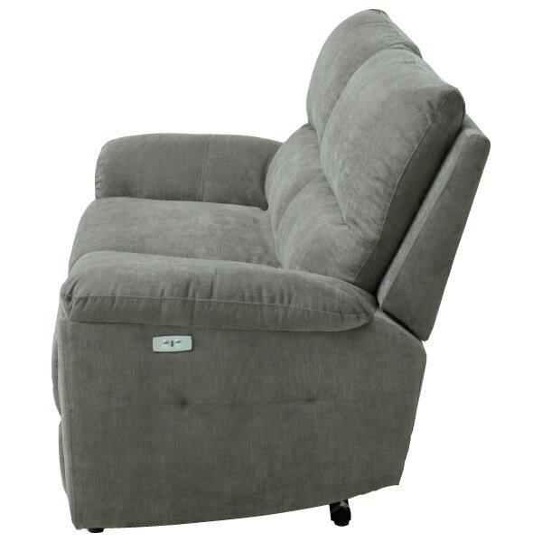 ◎布質3人用電動可躺式沙發 N-BEAZEL DBR NITORI宜得利家居 2