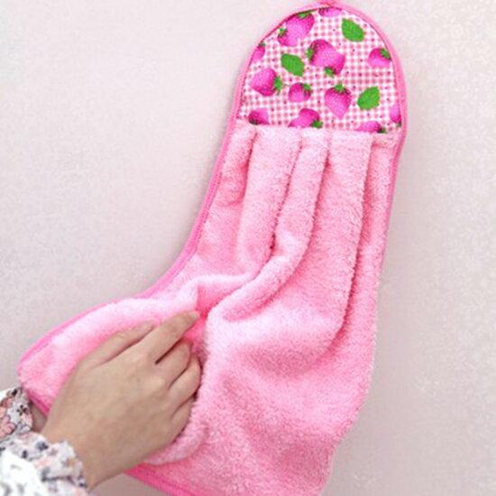 ♚MY COLOR♚加厚超吸水掛式擦手巾 兒童 創意 可愛 雪尼爾 方巾 廚房 吸水 洗手間【P372】
