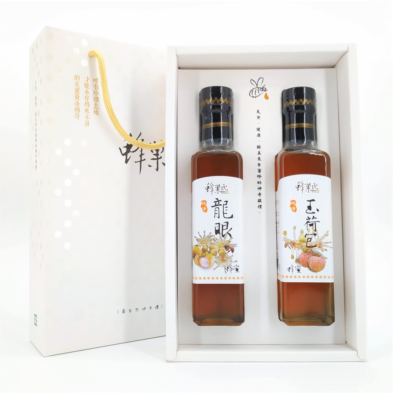 蜂巢氏 蜂蜜禮盒組 玉荷包蜂蜜+龍眼蜂蜜(350g*2)兩種口味一次擁有