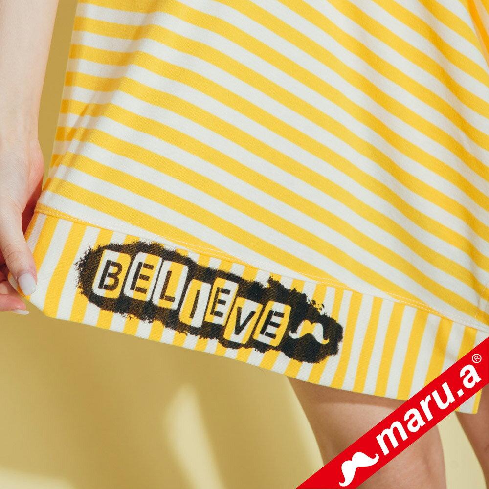 【maru.a】不規則下擺條紋上衣  8321312 2