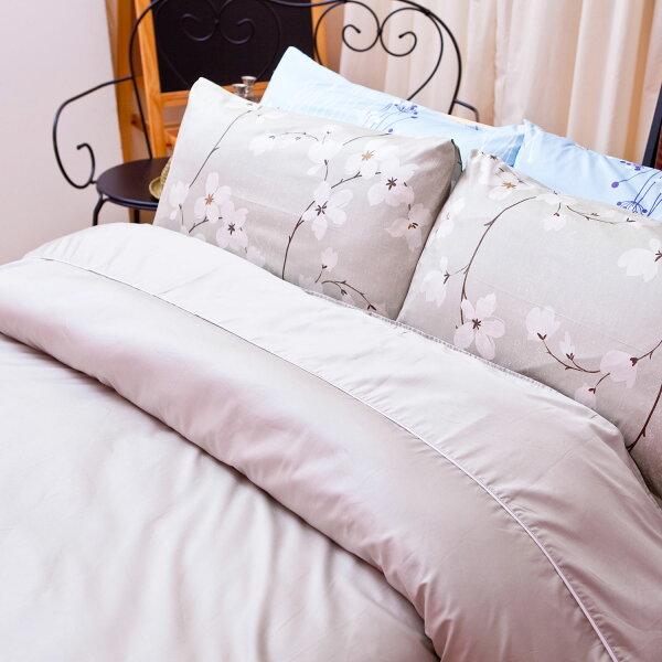 【名流寢飾家居館】簡單色彩.100%精梳棉.雙人薄被套.全程臺灣製造
