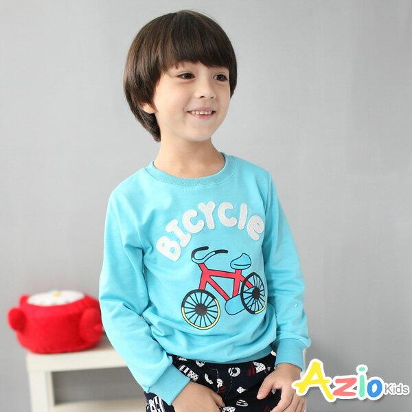 Azio Kids美國派:《AzioKids美國派童裝》上衣腳踏車字母縮口長袖T恤(藍)