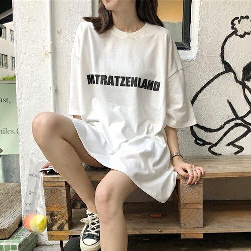 PS Mall OVERSIZE英文字圓領寬鬆短袖T恤【T639】 0