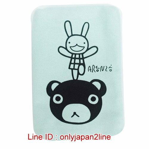 【真愛日本】16121300059專賣店限定棉布面紙包袋-兔兔與熊綠   Aranzi Aronzo阿朗基 阿龍佐 萬用包  收納包 錢包