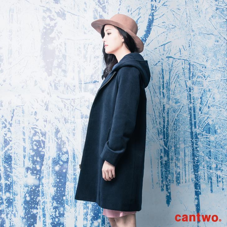 cantwo俐落H線條連帽大衣(共二色) 3
