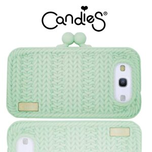【Candies】針織手拿包(淡綠)Galaxy S3