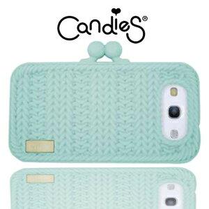 【Candies】針織手拿包(淡藍)Galaxy S3
