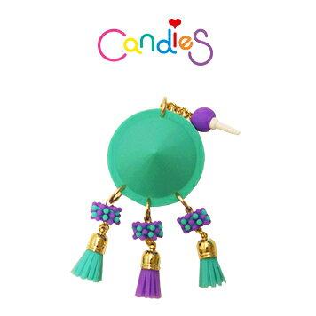 【Candies】圓形鉚釘耳機塞(綠) - 各款手機類型皆適用!!