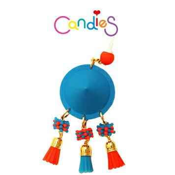 【Candies】圓形鉚釘耳機塞(藍) - 各款手機類型皆適用!!