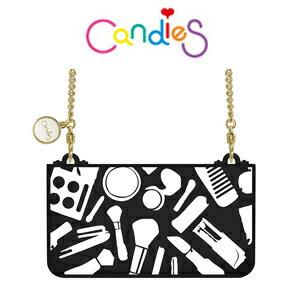 ~Candies~繽紛化妝包側背包^(附斜背金鍊^)黑 IPhone6