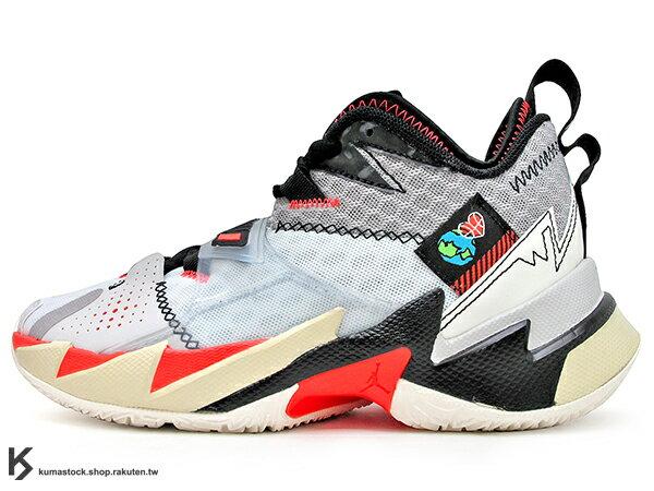 2020 雷霆隊 Russell Westbrook 個人簽名鞋款 NIKE AIR JORDAN WHY NOT ZER0.3 GS 大童鞋 女鞋 灰白黑 忍者龜 西河 MVP 大三元製造機 MVP 愛地球 UNITE (CD5804-101) 0120 0