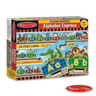 【寶貝樂園】美國瑪莉莎 Melissa & Doug 大型地板拼圖可愛字母小火車27 片