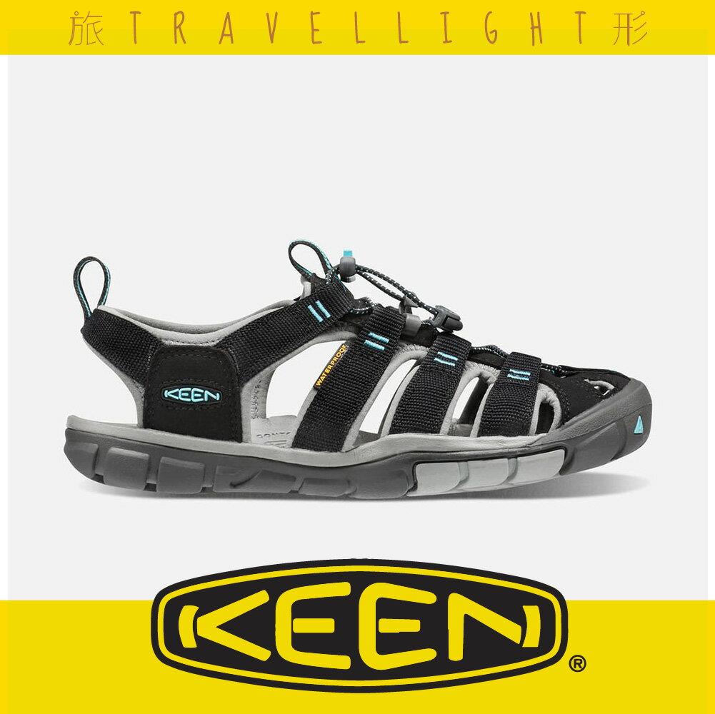 【KEEN】CLEARWATER CNX 女輕量護趾涼鞋 黑色 1016298 健行 水陸兩用鞋 溯溪 海灘 戶外 窄楦 Travellight旅形