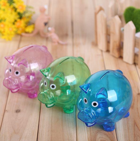 【省錢博士】(大) 小豬存錢罐 / 透明儲錢罐 / 創意卡通儲蓄罐