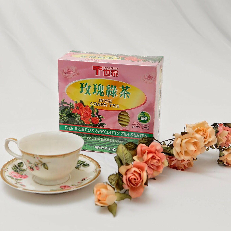 世家防潮包玫瑰綠茶--(50入)