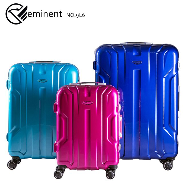 【eminent萬國通路】20吋雷斯特 極致鋁合金淺鋁框PC行李箱 luggage 登機箱(9L6暗巖藍)【威奇包仔通】 1