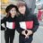◆快速出貨◆刷毛T恤 圓領刷毛 連帽刷毛 情侶T恤 暖暖刷毛 MIT台灣製.紅白色塊【YS0445】可單買.艾咪E舖 3