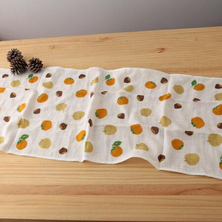 taoru 日本毛巾 和心傳_柿栗 34*84cm (長巾、紗布毛巾)