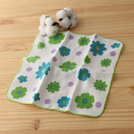 taoru 日本毛巾 和心傳_花遊 25*25 cm (仕女手巾 紗布巾)