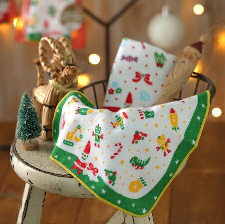 【Xmas交換小禮物】日本可愛手巾:聖誕節玩具箱20*20cm(童巾手巾--taoru日本毛巾)