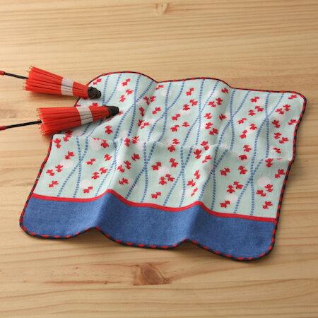 taoru 日本毛巾 町娘_撈金魚日 25*25 cm (仕女手巾 紗布毛巾 和物篇)