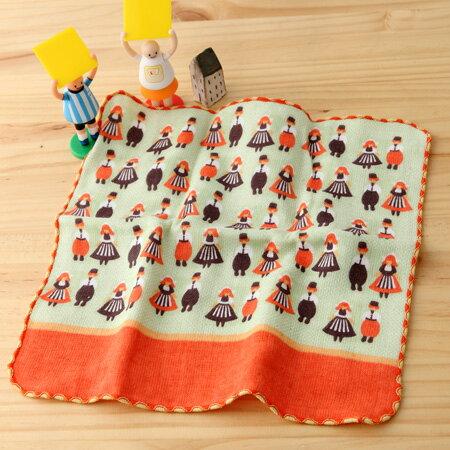 taoru 日本毛巾 町娘 荷蘭傳統服飾 25*25 cm (仕女手巾 紗布毛巾 環遊世界篇)