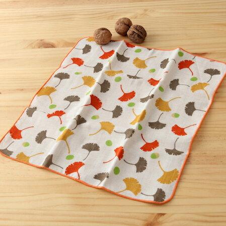 日本毛巾 : 和的風物詩 銀杏葉 30*30 cm (手巾 秋時 -- taoru 日本毛巾)