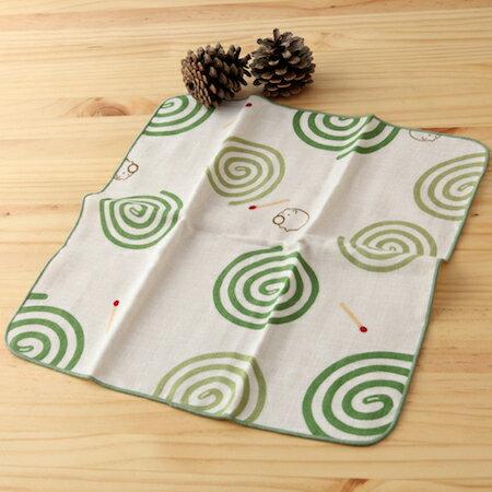 taoru 日本毛巾 和的風物詩_蚊香 30*30 cm (仕女手巾 紗布毛巾 夏夜)