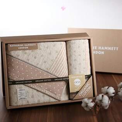 taoru:【taoru】Eco-friendly系列-日本毛巾彌月禮盒34x35、60x120cm(方巾浴巾組)-有美國OCIA認證、無染、無漂白的有機棉毛巾禮盒