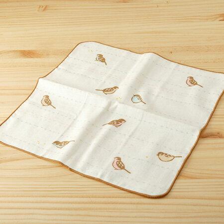 毛巾 : 和的風物詩_麻雀啾啾啾 30^~30 cm ^(手巾 吉祥物 ~~ taoru