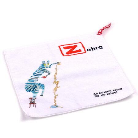 【taoru】ABC Book|斑馬 - 日本童巾 24x24 cm - 媽媽,我要唸英文字母給你聽囉 !