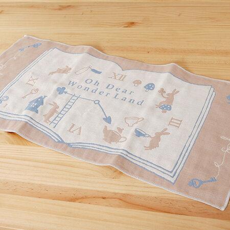 【taoru】愛麗絲的國度|滴答滴答 - 日本毛巾 28x60cm(毛巾、有機棉紗布巾)- 一起夢遊仙境吧!