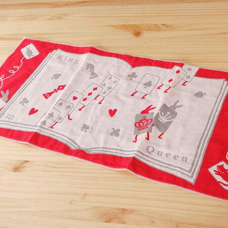 【taoru】愛麗絲的國度|紙牌僕人 - 日本毛巾 28x60cm(毛巾、有機棉紗布巾)- 一起夢遊仙境吧!