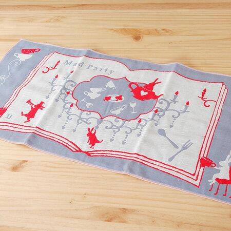 【taoru】愛麗絲的國度|瘋狂下午茶 - 日本毛巾 28x60cm(毛巾、有機棉紗布巾)- 一起夢遊仙境吧!