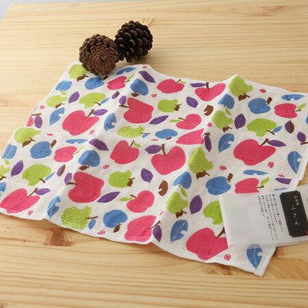 日本廚房巾 : 甜蜜廚房 蘋果 30*40 cm (奈良蚊帳生地 -- taoru 日本毛巾)